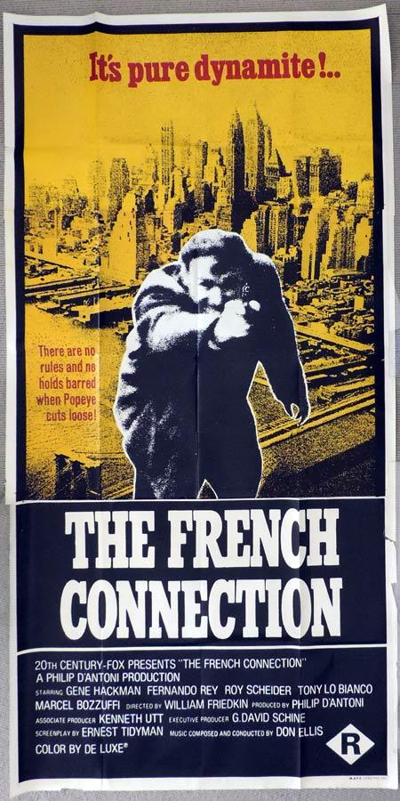 THE FRENCH CONNECTION Original 3 Sheet Movie Poster Gene Hackman