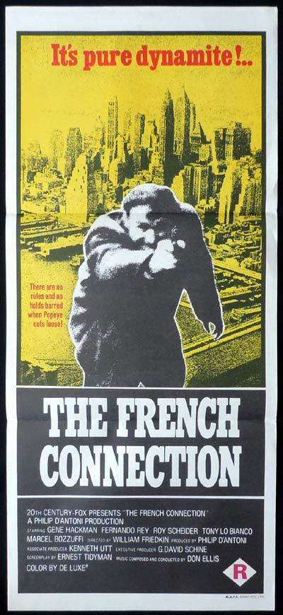 THE FRENCH CONNECTION Daybill Movie poster Gene Hackman Roy Scheider