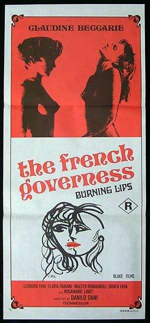 FRENCH GOVERNESS '76-Brini Art Sexploitation Movie Poster