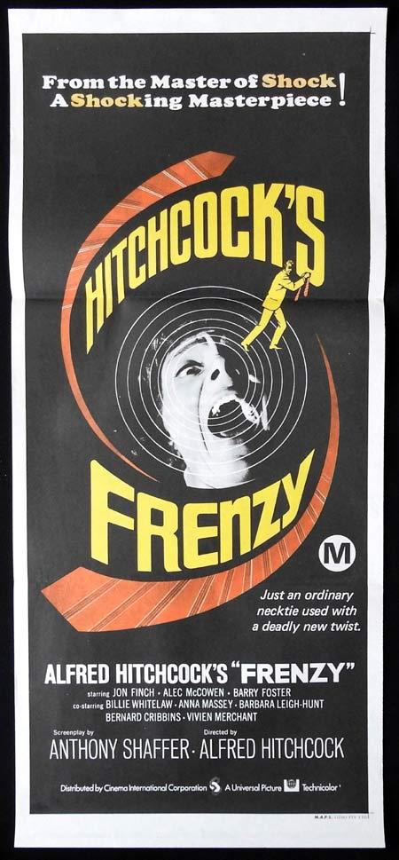 FRENZY Original Daybill Movie Poster Alfred Hitchcock Necktie Strangler