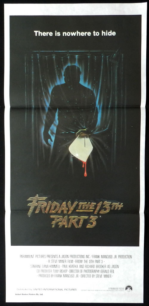 FRIDAY THE 13TH PART 3 Original daybill poster Horror