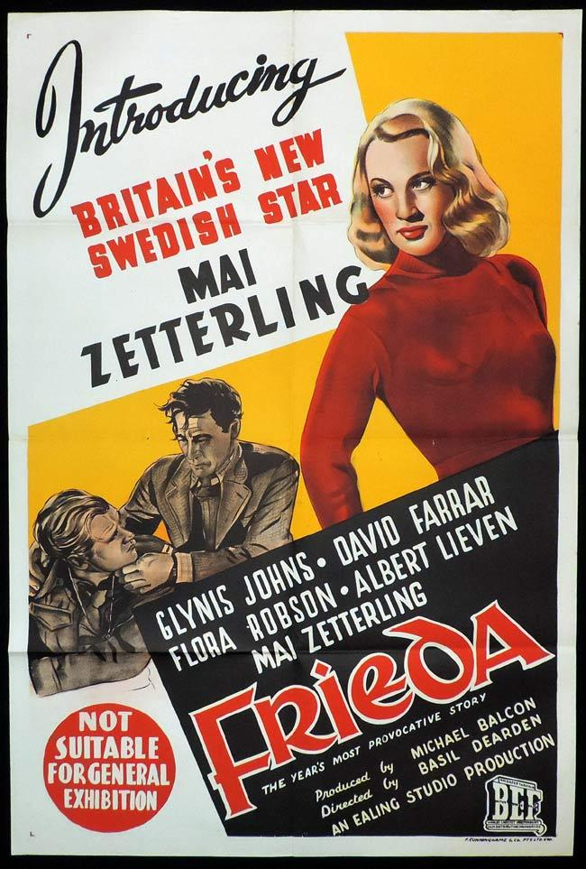 FRIEDA Original One sheet Movie Poster MAI ZETTERLING Glynis Johns