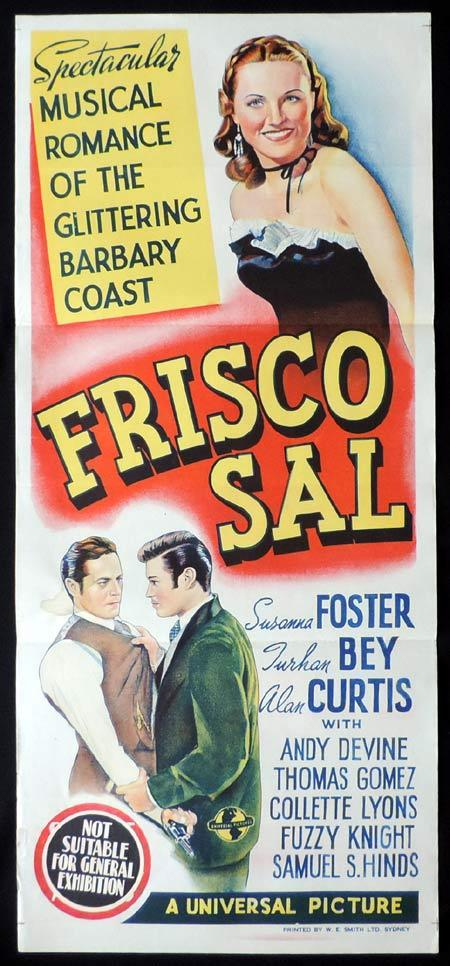 FRISCO SAL Original Daybill Movie Poster Susanna Foster Turhan Bey