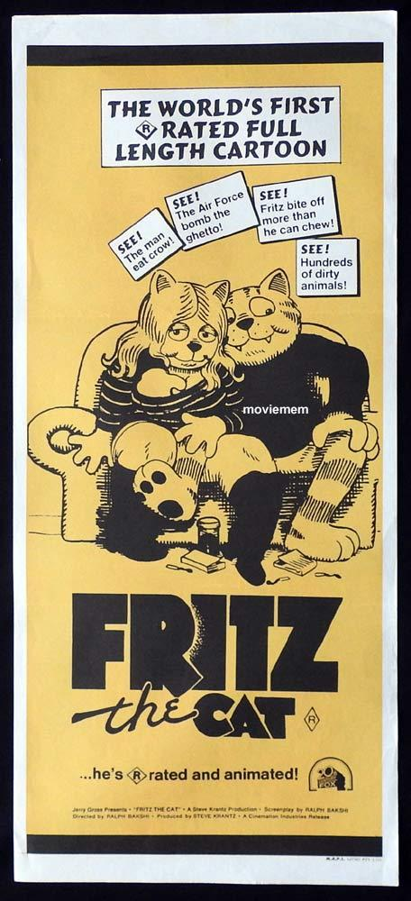 FRITZ THE CAT Original Daybill Movie Poster Ralph Bakshi Skip Hinnant