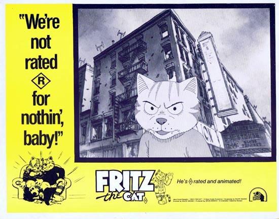 FRITZ THE CAT 1972 Ralph Bakshi ANIMATION Lobby Card 2