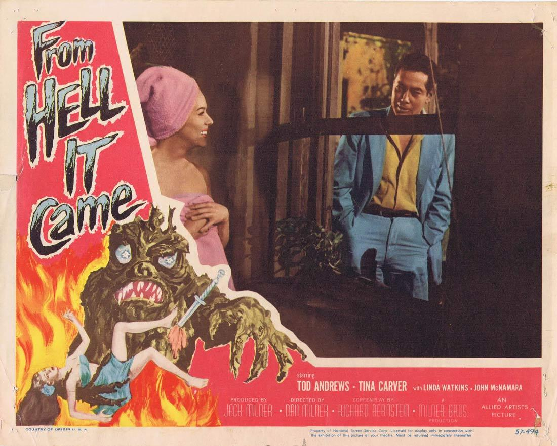 FROM HELL IT CAME Lobby Card Sci Fi Classic Tod Andrews
