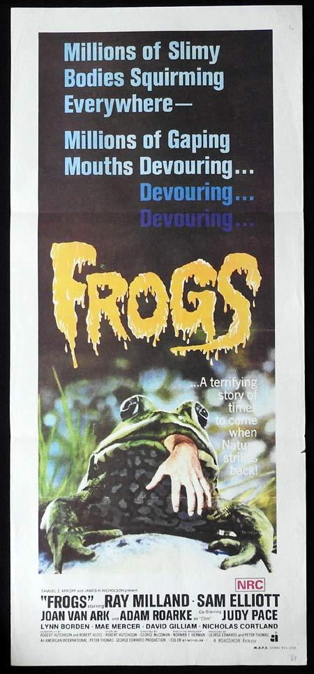 FROGS Original daybill Movie Poster Ray Milland Horror