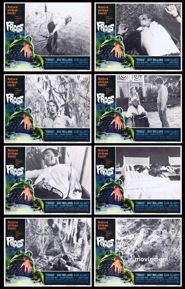 FROGS Original Lobby Card set Ray Milland Sam Elliott