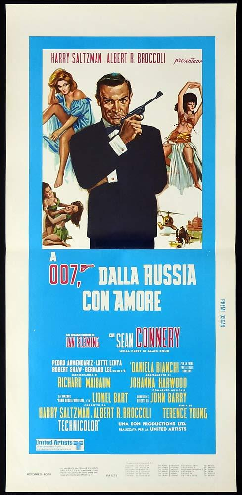 FROM RUSSIA WITH LOVE Original Locandina Movie Poster James Bond 80se