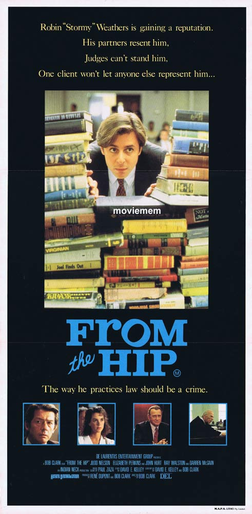 FROM THE HIP Original Daybill movie poster  Judd Nelson Elizabeth Perkins