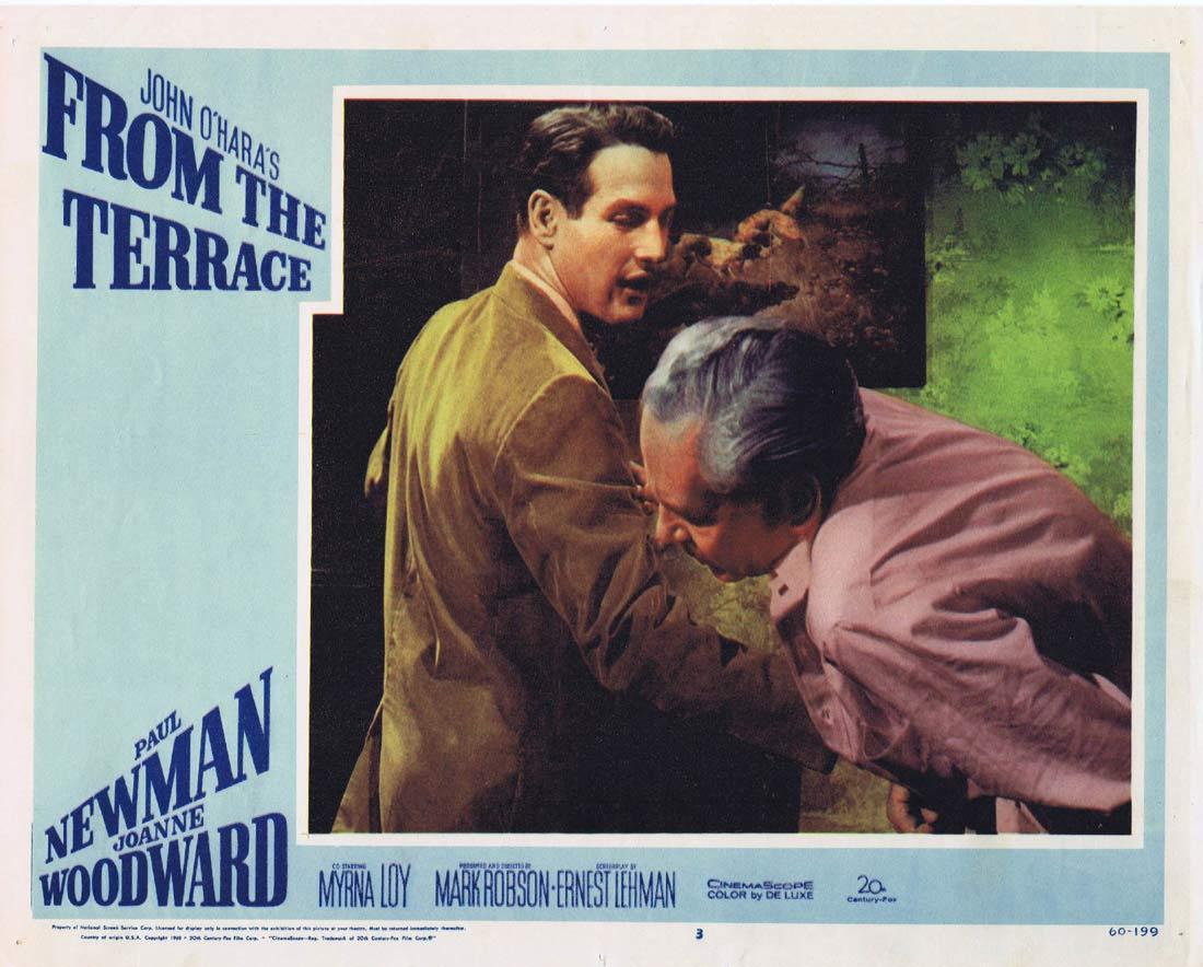 FROM THE TERRACE 1960 Paul Newman Joanne Woodward Lobby card 3