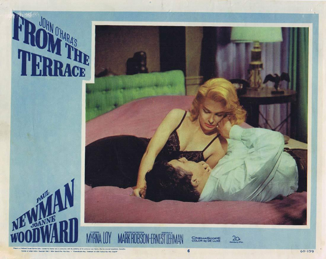FROM THE TERRACE 1960 Paul Newman Joanne Woodward Lobby card 6