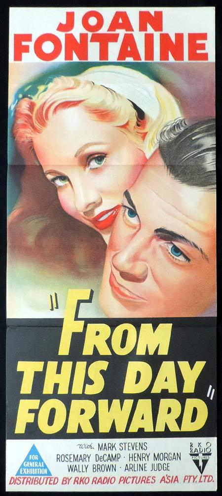 FROM THIS DAY FORWARD Original Daybill Movie Poster Clark RKO Joan Fontaine
