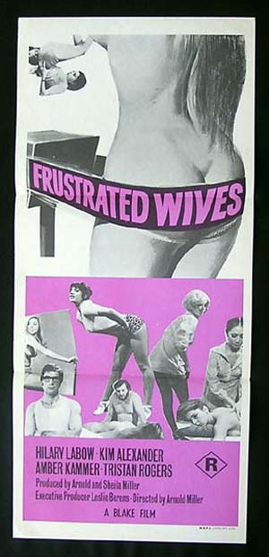 FRUSTRATED WIVES '73 aka SEX FARM-Tristan Rogers Sexploitation poster
