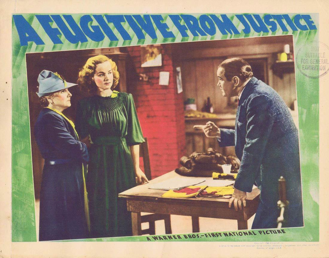 A FUGITIVE FROM JUSTICE Lobby Card 2 Roger Pryor Lucile Fairbanks Eddie Foy Jr.
