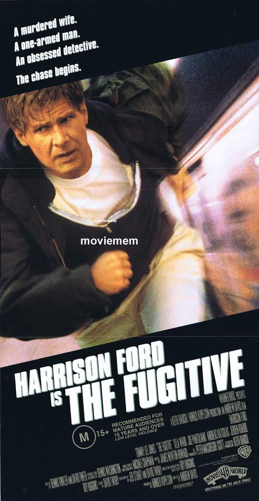 THE FUGITIVE Daybill Movie Poster Harrison Ford Tommy Lee Jones