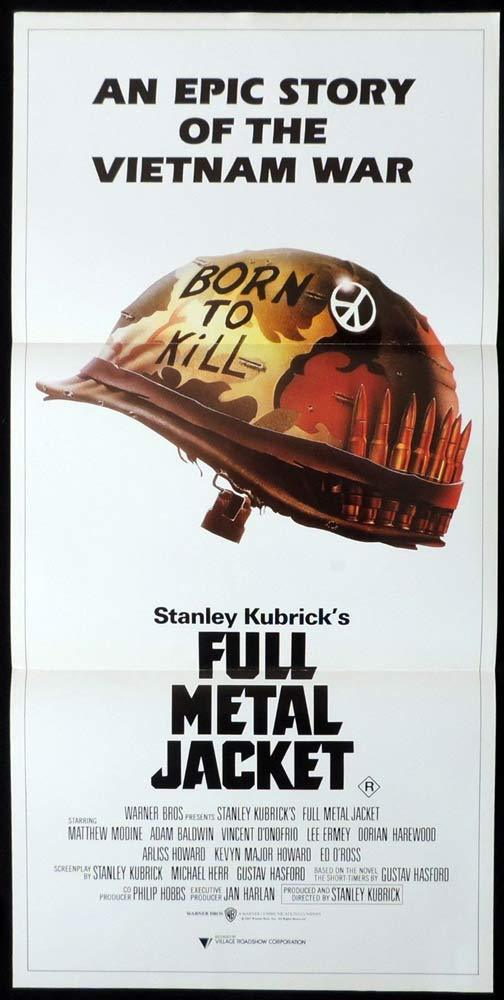 FULL METAL JACKET Daybill Movie Poster 1987 Stanley Kubrick D'Onofrio