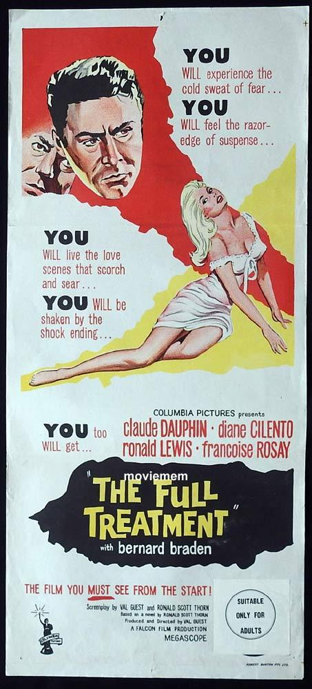 THE FULL TREATMENT Original Daybill Movie Poster HAMMER FILMS Diane Cilento