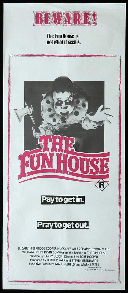 THE FUNHOUSE Original Daybill Movie Poster Tobe Hooper Horror Fun House
