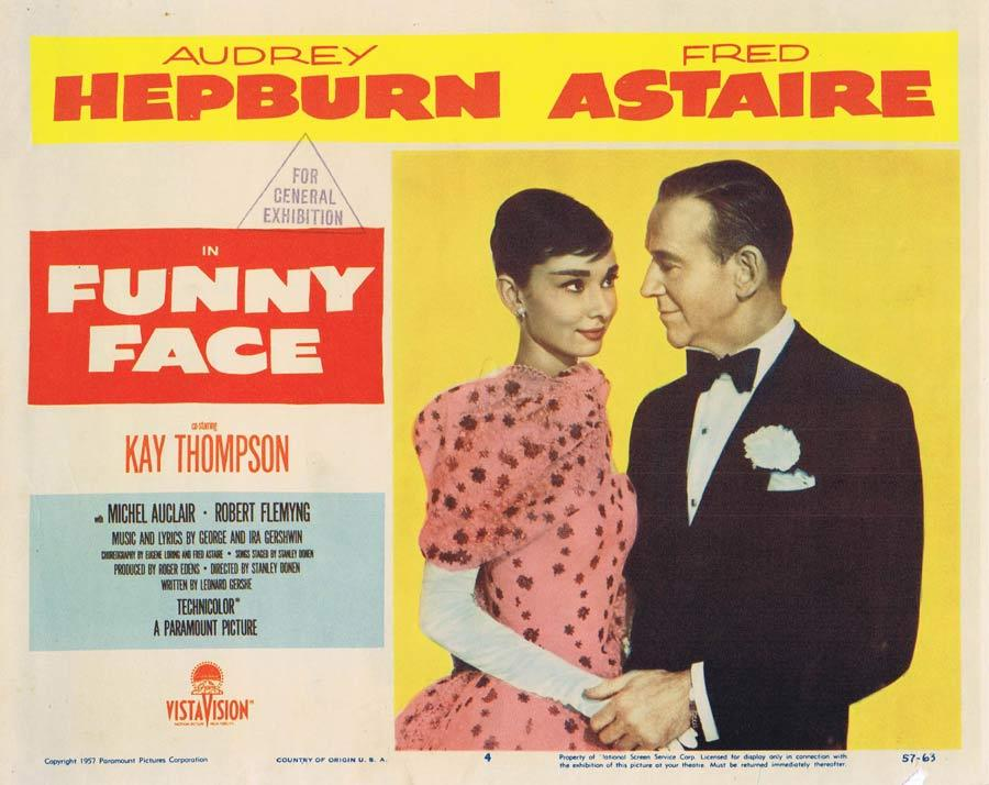 FUNNY FACE Lobby Card 4 Fred Astaire Audrey Hepburn