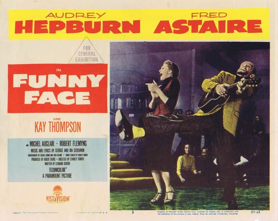 FUNNY FACE Lobby Card 5 Fred Astaire Audrey Hepburn