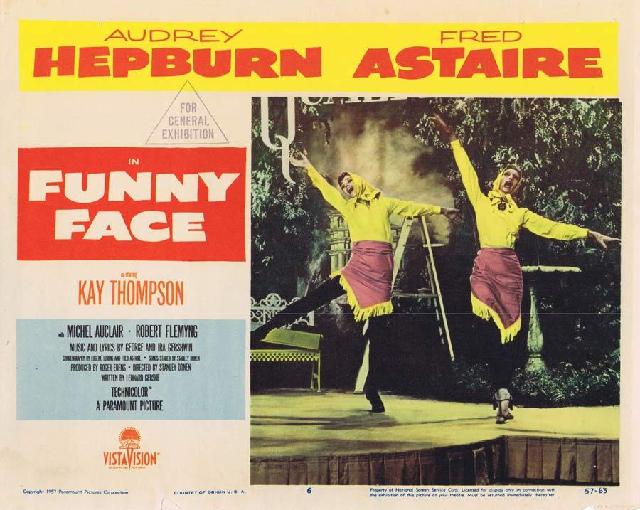 FUNNY FACE Lobby Card 6 Fred Astaire Audrey Hepburn