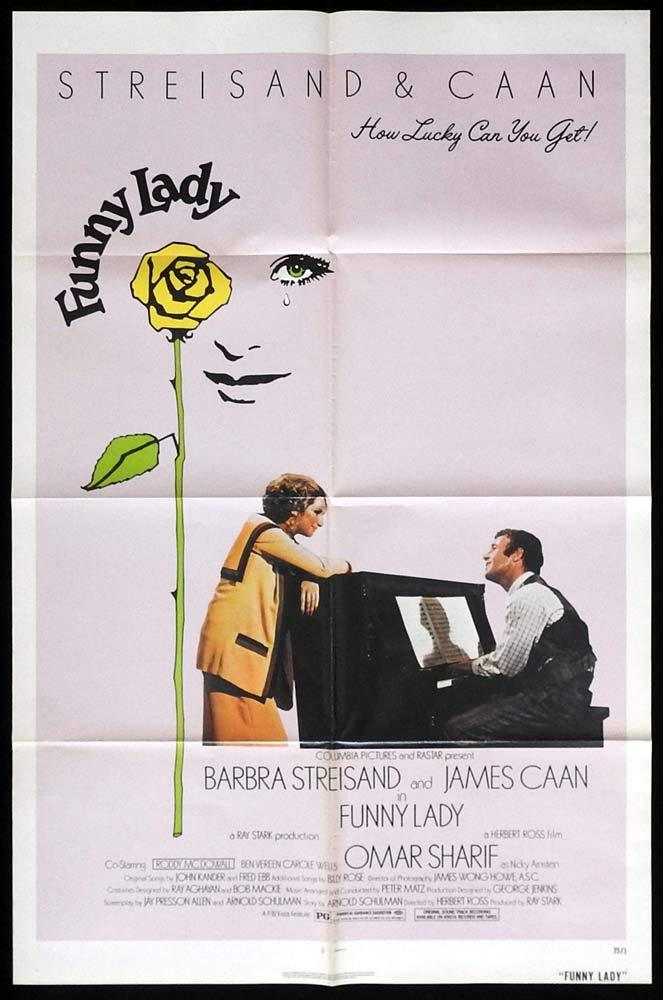 FUNNY LADY Original One sheet Movie poster Barbra Streisand James Caan