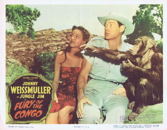 FURY OF THE CONGO 1951 Jungle Jim Johnny Weissmuller Lobby Card 2