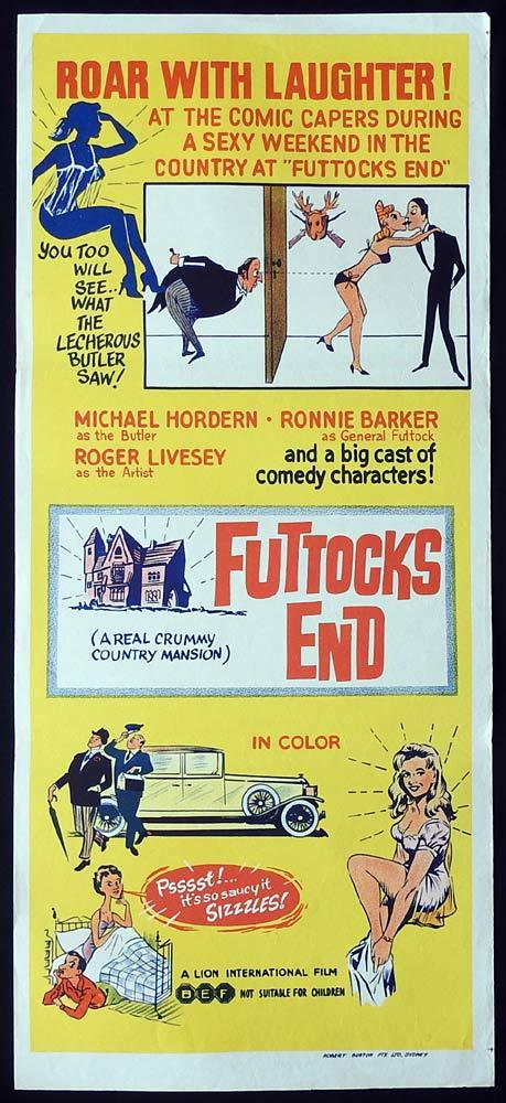 FUTTOCKS END Original Daybill Movie Poster Michael Hordern Ronnie Barker
