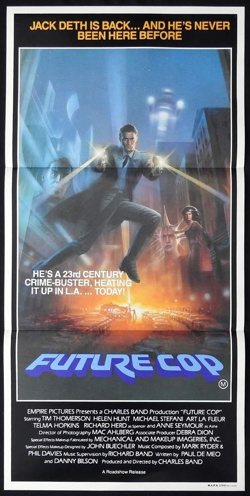 FUTURE COP Original Daybill Movie poster TRANCERS Tim Thomerson Helen Hunt