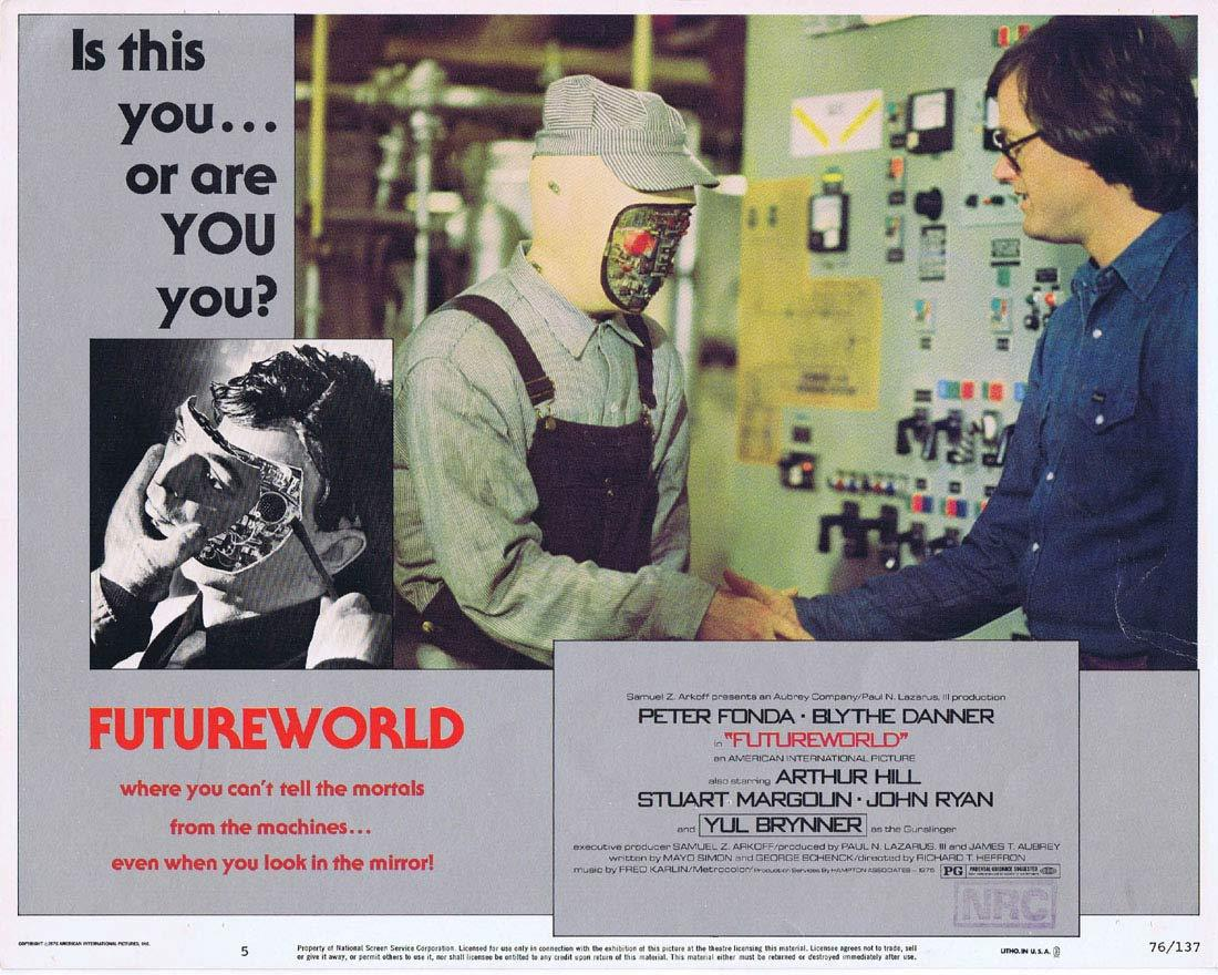 FUTUREWORLD Lobby Card 5 Yul Brynner Peter Fonda