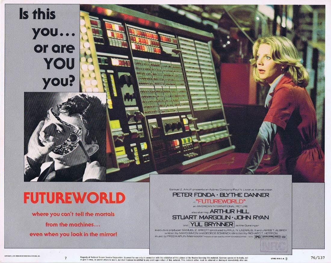 FUTUREWORLD Lobby Card 7 Yul Brynner Peter Fonda