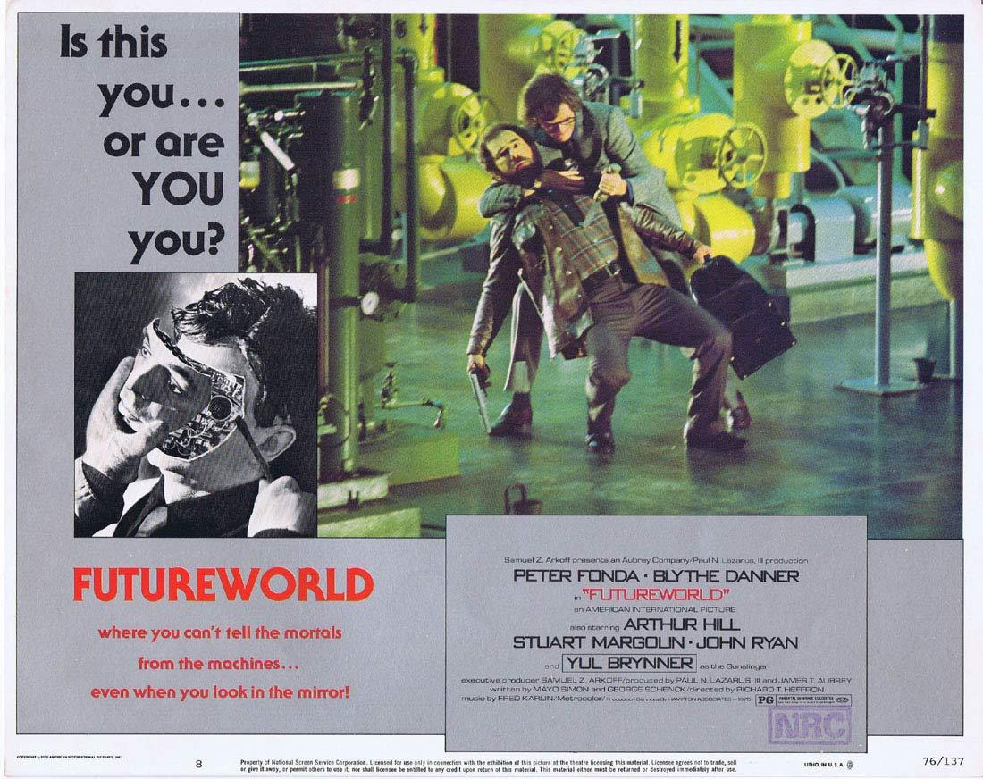 FUTUREWORLD Lobby Card 8 Yul Brynner Peter Fonda