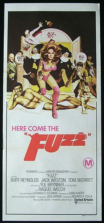 FUZZ Original Daybill Movie Poster RAQUEL WELCH Burt Reynolds