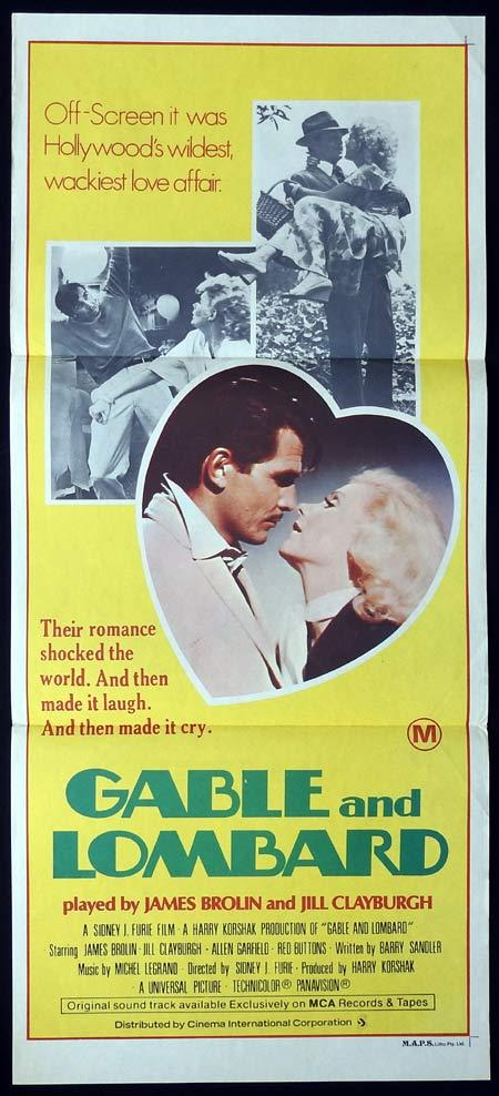 GABLE AND LOMBARD Original Daybill Movie poster James Brolin Jill Clayburgh