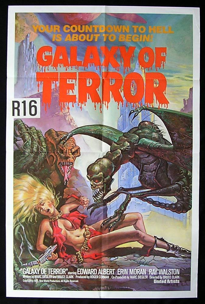 GALAXY OF TERROR Original One sheet Movie poster