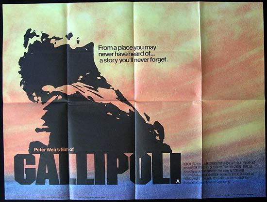 GALLIPOLI '81 Mel Gibson RARE British Quad Movie Poster