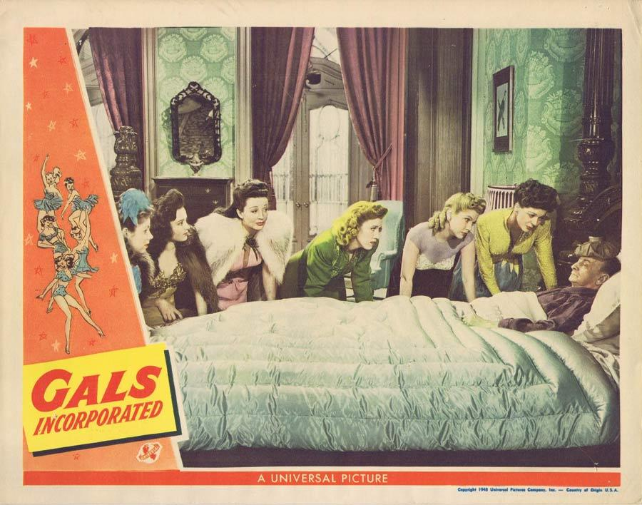 GALS INCORPORATED Lobby Card 1943 Leon Errol Western
