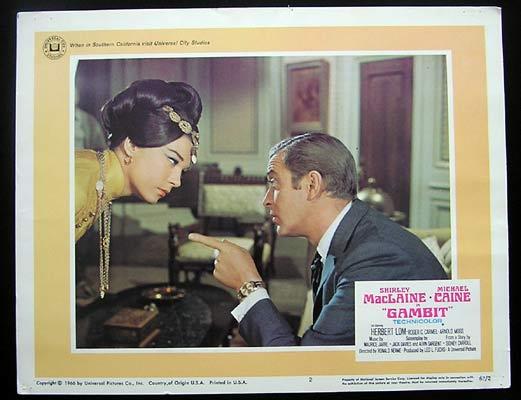 GAMBIT Lobby Card 2 1966 Michael Caine Shirley MacLaine
