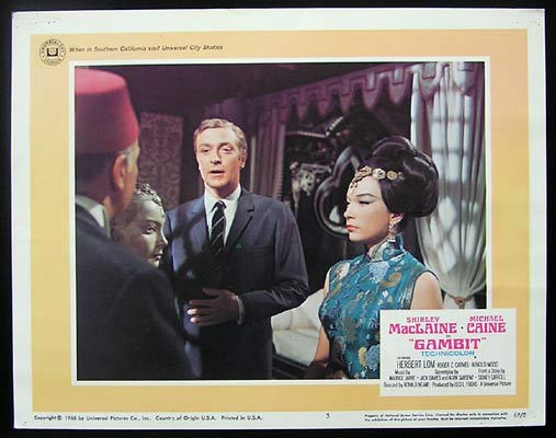 GAMBIT Lobby Card 3 1966 Michael Caine Shirley MacLaine