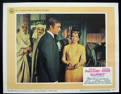 GAMBIT Lobby Card 4 1966 Michael Caine Shirley MacLaine