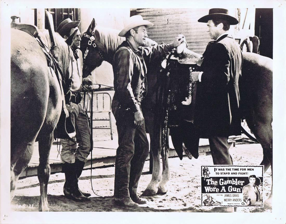 THE GAMBLER WORE A GUN Lobby Card 4 Jim Davis Merry Anders Addison Richards Western