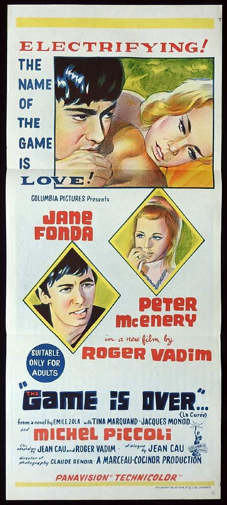 THE GAME IS OVER daybill Movie poster Jane Fonda Roger Vadim