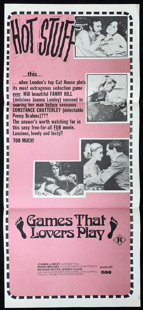 GAMES THAT LOVERS PLAY Original Daybill Movie Poster Joanna Lumley Sexploitation