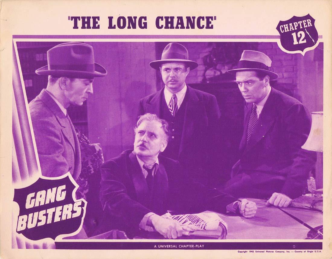 GANG BUSTERS Original Lobby Card Chapter 12 Universal Serial Kent Taylor