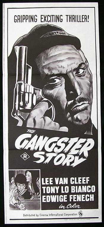 THE GANGSTER STORY Original Daybill Movie Poster Lee Van Cleef Film Noir