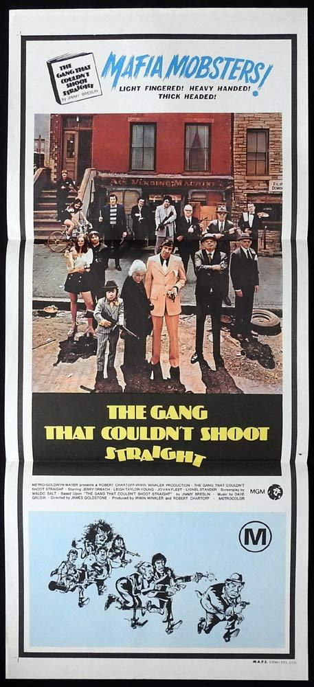 THE GANG THAT COULDN'T SHOOT STRAIGHT Daybill Movie Poster Jerry Orbach