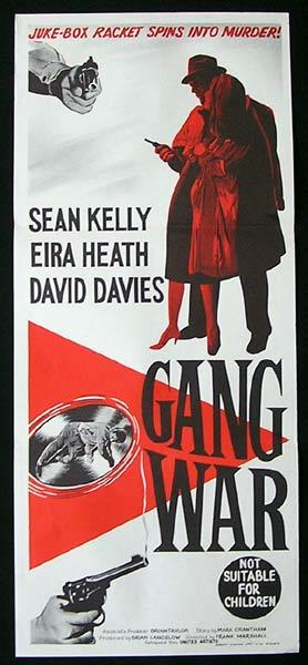 GANG WAR 1962 Juke Box Racket RARE FILM NOIR Daybill Movie Poster