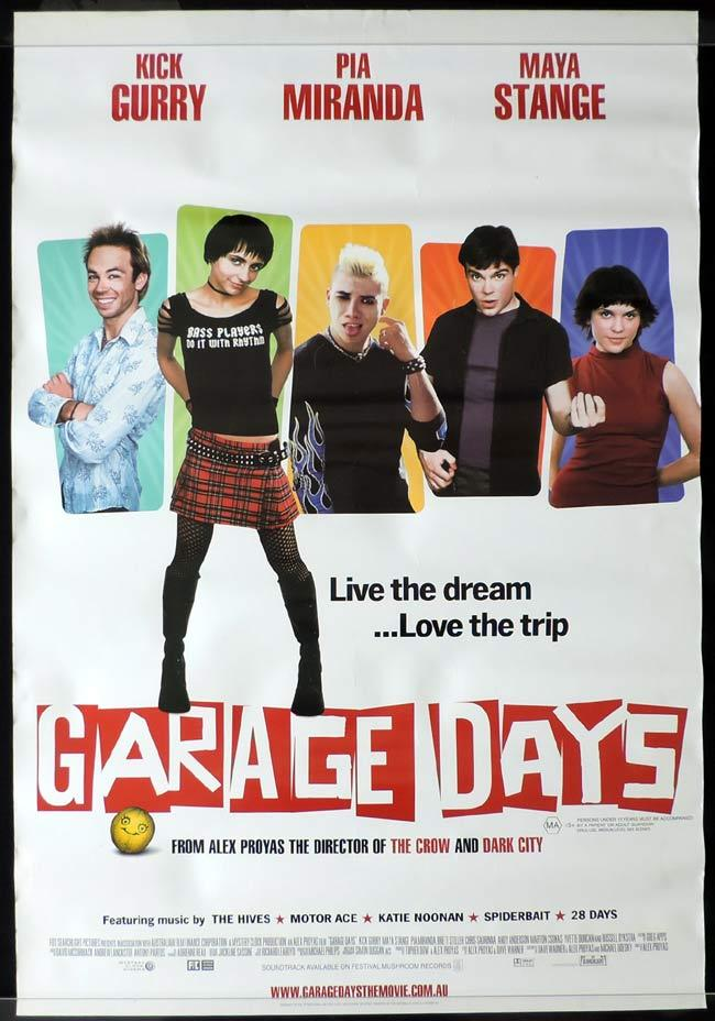 GARAGE DAYS Australian One sheet Movie poster Kick Gurry Pia Miranda