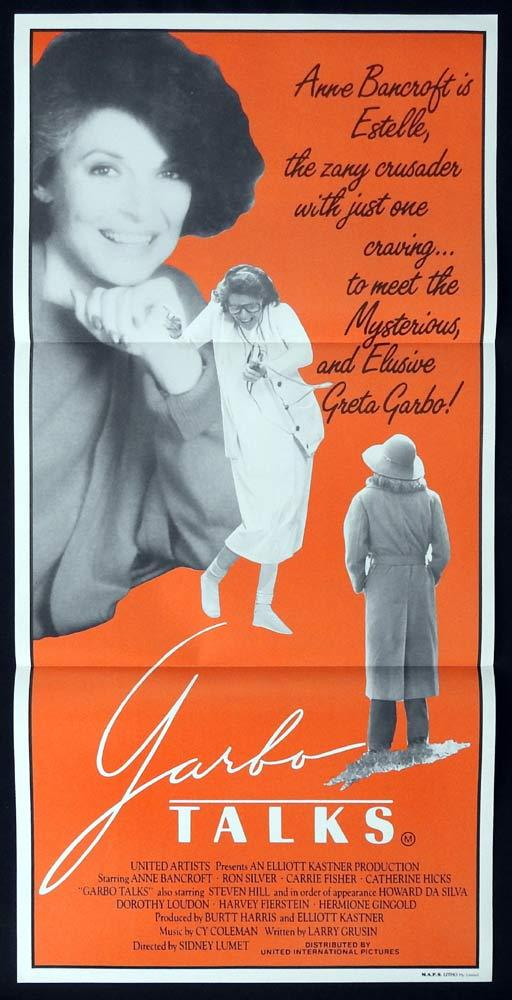 GARBO TALKS Original Daybill Movie poster Anne Bancroft Ron Silver Carrie Fisher